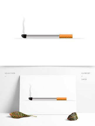 手繪矢量香煙煙霧素材免扣元素燃燒的煙