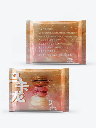 休闲零食马卡龙甜品面包食品包装