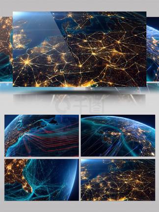 全球光速连接视频素材