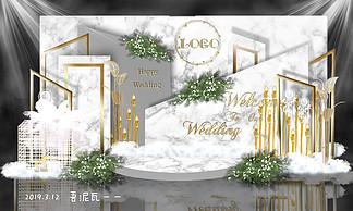 大理石婚礼迎宾区