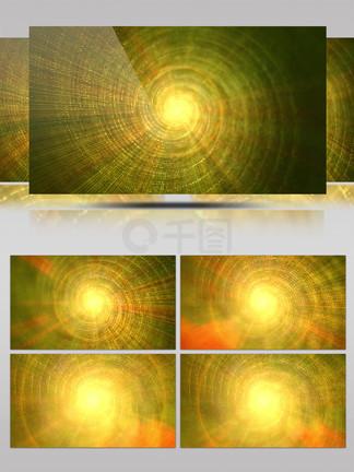 4K金色粒子佛光光线旋涡旋转背景