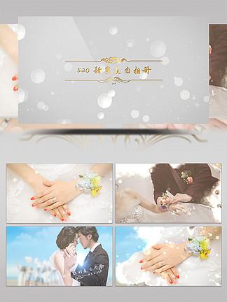 浪漫粒子表白婚礼视频展示AE模板