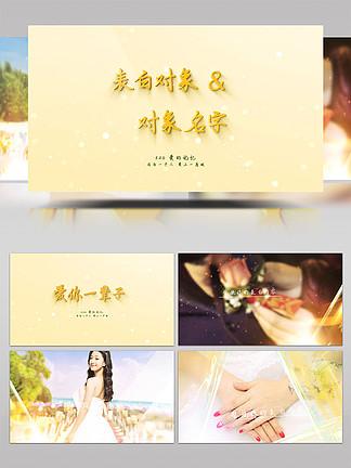 玻璃质感表白婚礼记忆视频展示AE模板