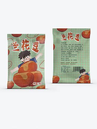 卡通豆类零食包装炒货年货休闲零食兰花豆