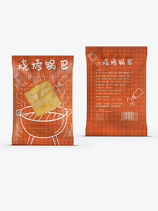 膨化食品锅巴烧烤味食品包装休闲零食