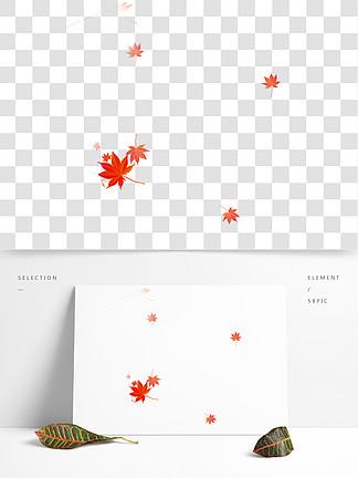 红色的枫叶装饰素材