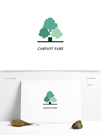 可商用绿色环保树企业公司矢量logo