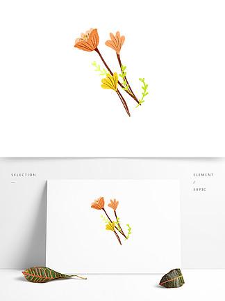 手绘水彩风小清新花朵边框推文排版装饰