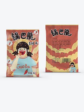 锅巴脆香辣口味手工小米锅巴休闲零食包装袋