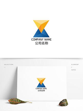 三角形漸變時尚科技互聯網品牌logo標志