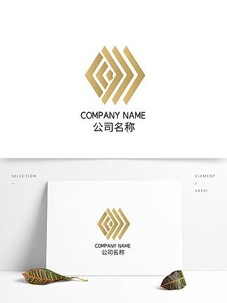 地產漸變矩形時尚科技品牌logo標志