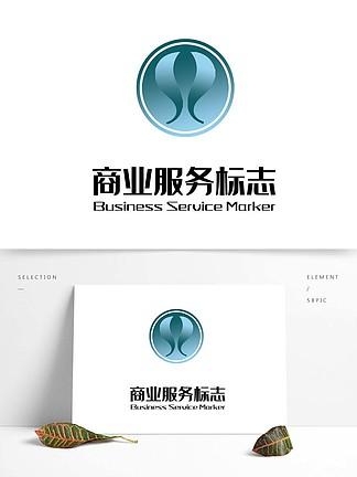 藍色圓形養生logo