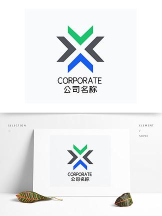 時尚科技三角形撞色品牌商務logo標志