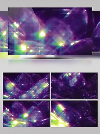 4K镭射渐变粒子霓虹灯水晶旋转光效背景