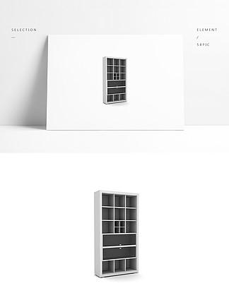 简约3d展示橱柜模型