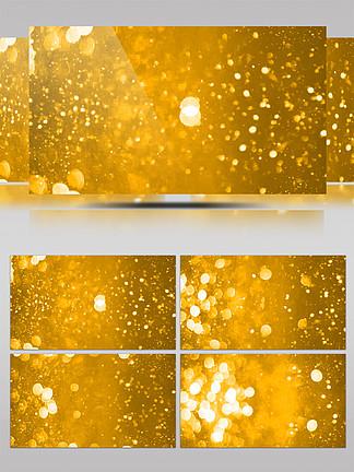 金色粒子光晕流动视频