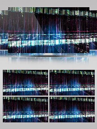 4K三维空间玻璃光效质感粒子效果背景