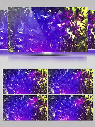 4K三维菱形粒子唯美光效展示背景
