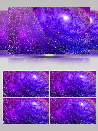 4K震撼宇宙粒子星球星云星系旋涡特效背景