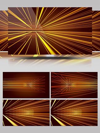 炫酷线条不规整多束变换金黄绚丽放射素材