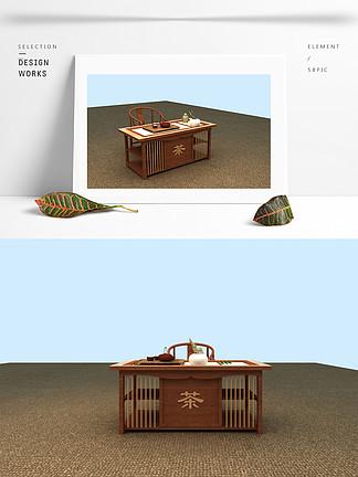 茶桌组合3d模型