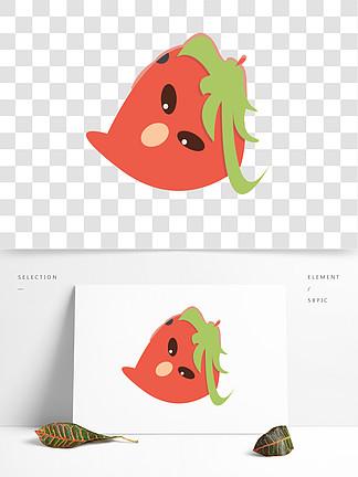 可爱草莓水果?#35813;鱌NG免扣素材