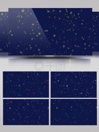 5种不同颜色星星?#20102;复?#36890;道视频素材