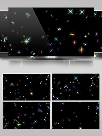 斑斓色彩星光AE模板