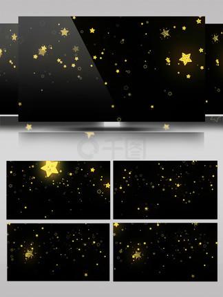 手绘插画浪漫星星飘落AE模板