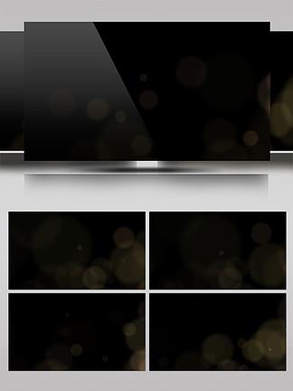 原创金色粒子带通道光效动态视频