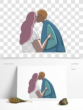 中世纪复古接吻的情侣