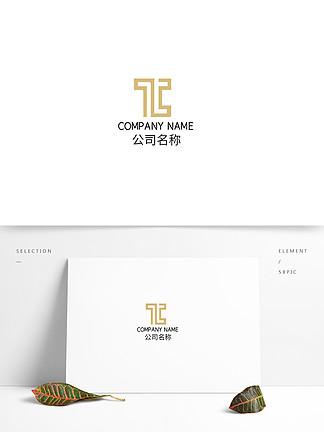 抽象矩形金屬漸變時尚科技互聯網logo