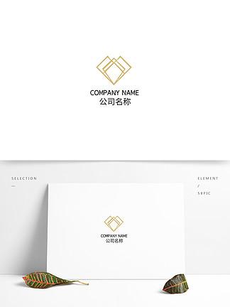 菱形線條金屬漸變時尚科技互聯網logo