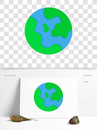 手绘风手绘地球png元素