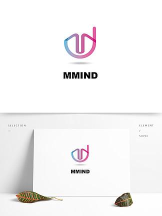 简洁UI移动平台标志logo设计