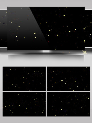 带通道星星闪烁AE模板