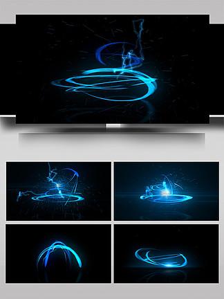 光线光晕舞动酷炫变换展示AE模板