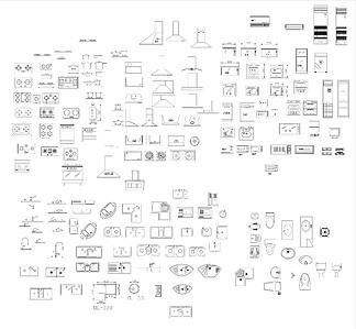 厨具立面图块CAD