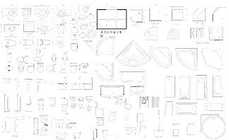 洁具立面图块CAD