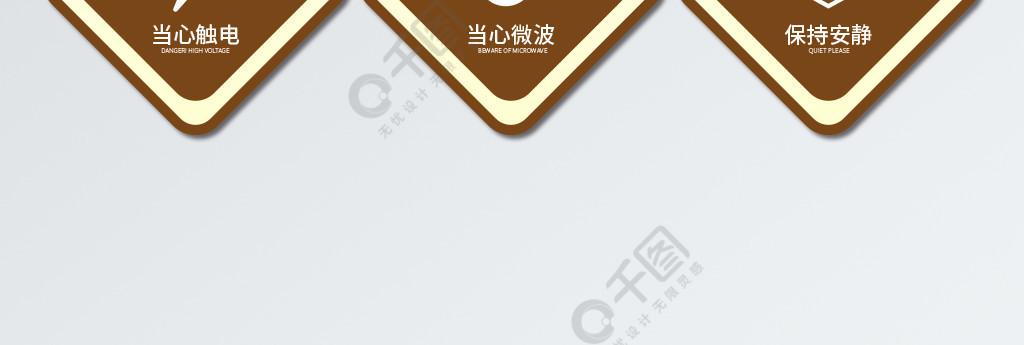 原创商务简约VI警示牌系统