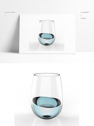 家庭普通水杯模型