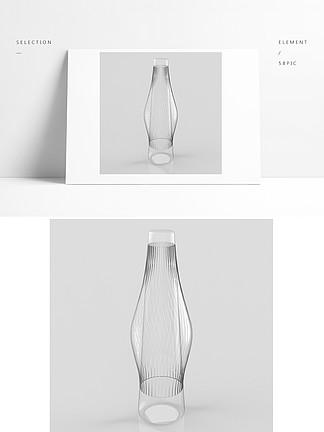 家用玻璃瓶花瓶模型