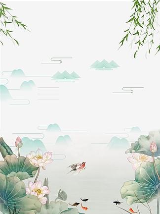 <i>GIF</i>简约盛夏荷花动态背景