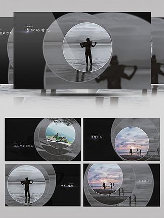 简约时尚黑白风旅行回忆纪念册