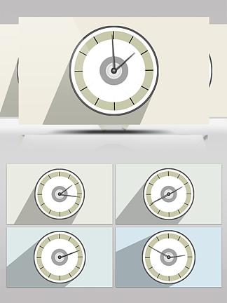 AE时钟转动GIF动画背景