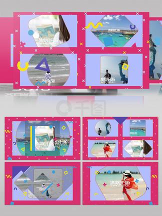 炫彩动感?#22836;紫?#26085;旅游MG动感展示AE模板