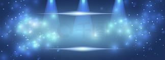 蓝色科技<i>星</i><i>空</i>化妆gif舞台背景