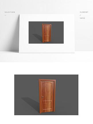 简约3d模型木门带贴图