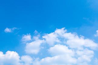 清新藍天晴天攝影圖