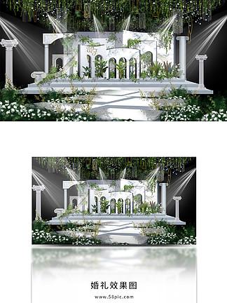 白色大理石婚礼效果图